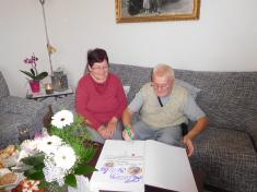 Zlatá svatba - manželé Vaďurovi