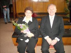 Zlatá svatba - manželé Novákovi
