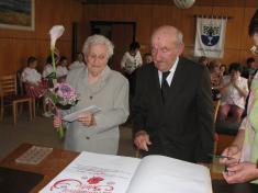 Diamantová svatba 29.6.2013 - manželé Bartoňovi