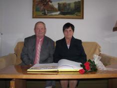 Zlatá svatba - manželé Křížovi